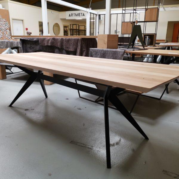 ARTMETA / table Papillon 245 x 98 x H 75 cm / frêne olivier + noir charbon