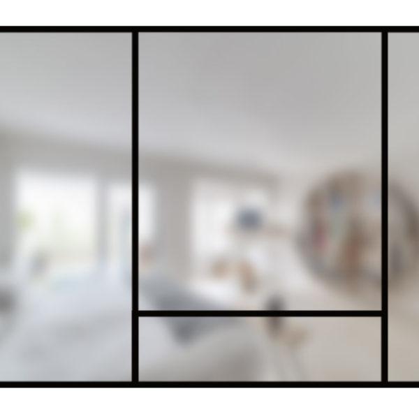 ARTMETA / Verrière Art déco de 4 verres