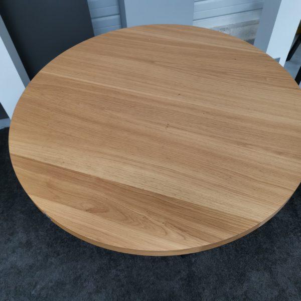 ARTMETA / table Tresse de 100 x H 75 cm / chêne naturel + noir charbon