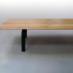 ARTMETA / table ALBATROS sur mesure en bois massif et piétement acier