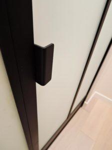 ARTMETA / réalisations / verrière intérieure / avec porte battante