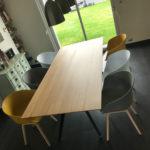 ARTMETA / Table Ma Reine rectangle / 220x100 cm en chêne naturel massif et pied noir charbon