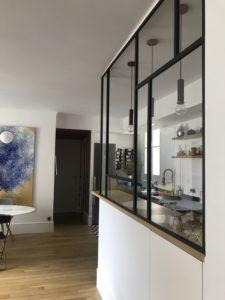 ARTMETA / verrière art deco de 7 verres / poser une verrière intérieure