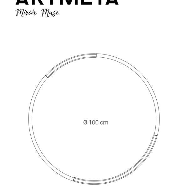 ARTMETA / Miroir rond Muse 100 cm