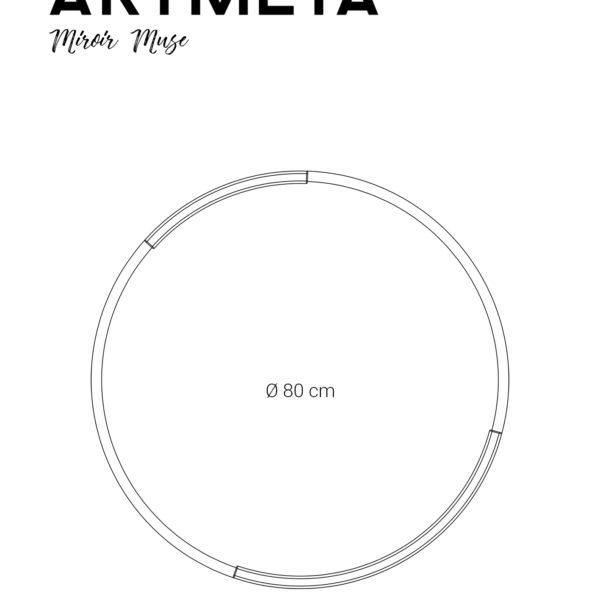ARTMETA / Miroir rond Muse 80 cm