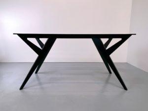 ARTMETA / Pied de table Ma Reine sur mesure en aluminium pleine masse