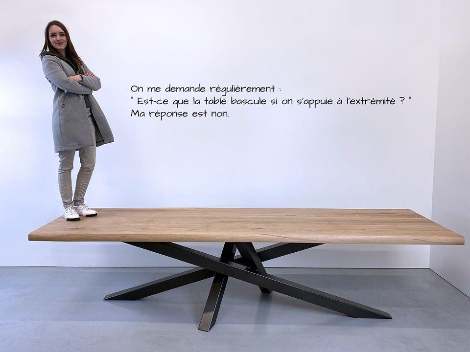 Table Mikado ARTMETA acier et bois massif