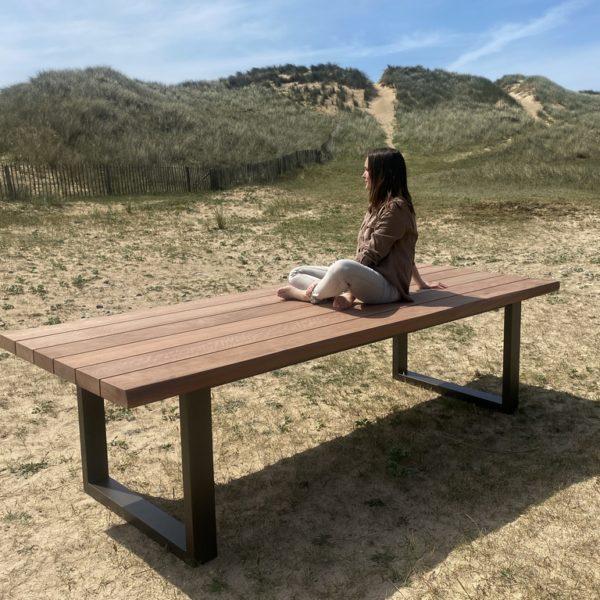 Table extérieure Rivage / Alu et bois massif
