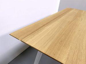 Bureau trapèze sur mesure en acier et bois massif / ARTMETA