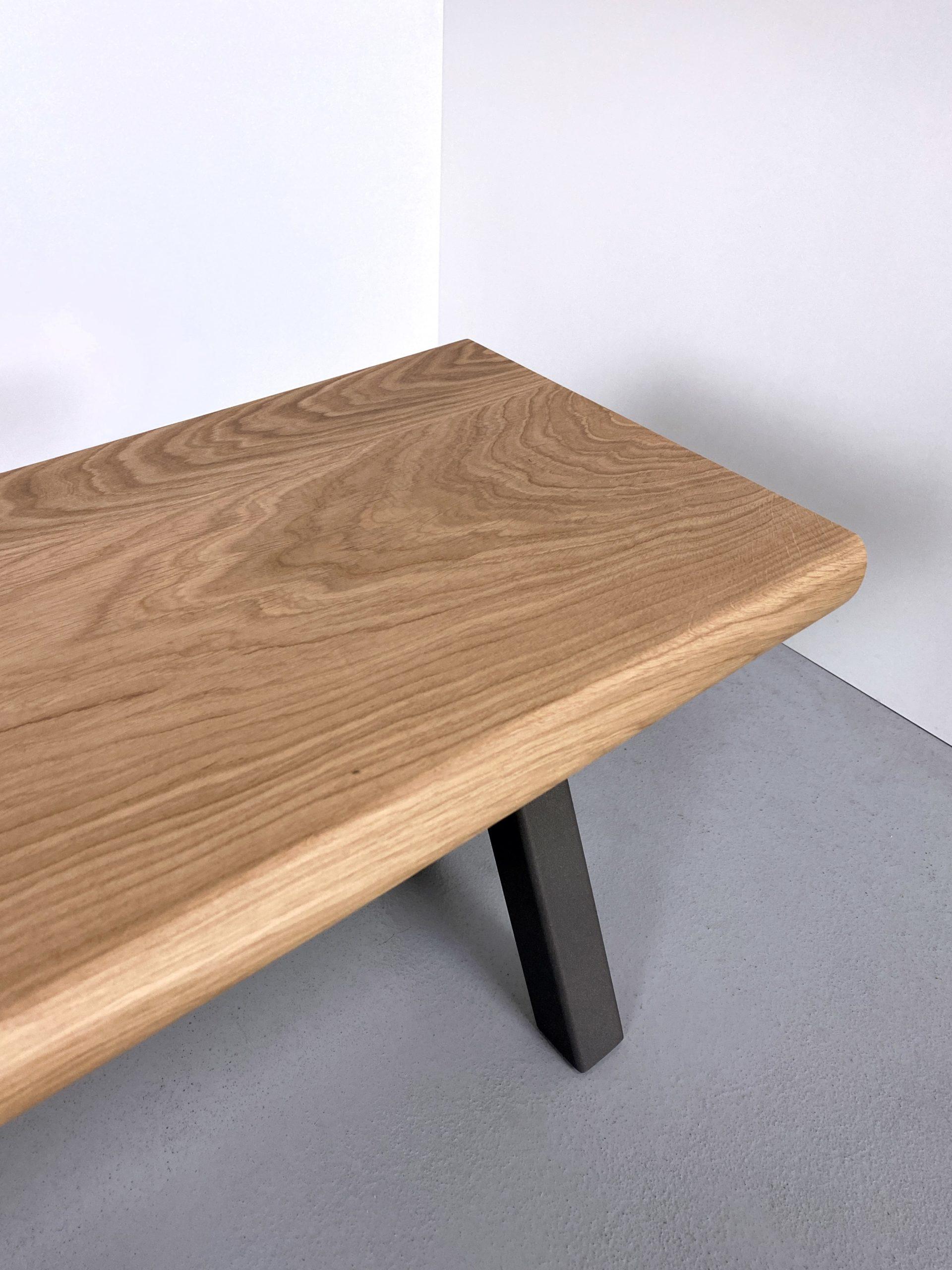 Banc de salle à manger X / acier et bois massif / 160 x P 34 x H 45 cm / ARTMETA