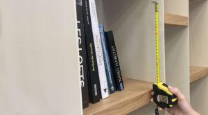 Dimensions bibliothèque sur mesure