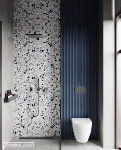 salle de douches terrazzo