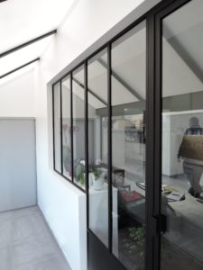 Verrière intérieur atelier en acier / Cherbourg / ARTMETA