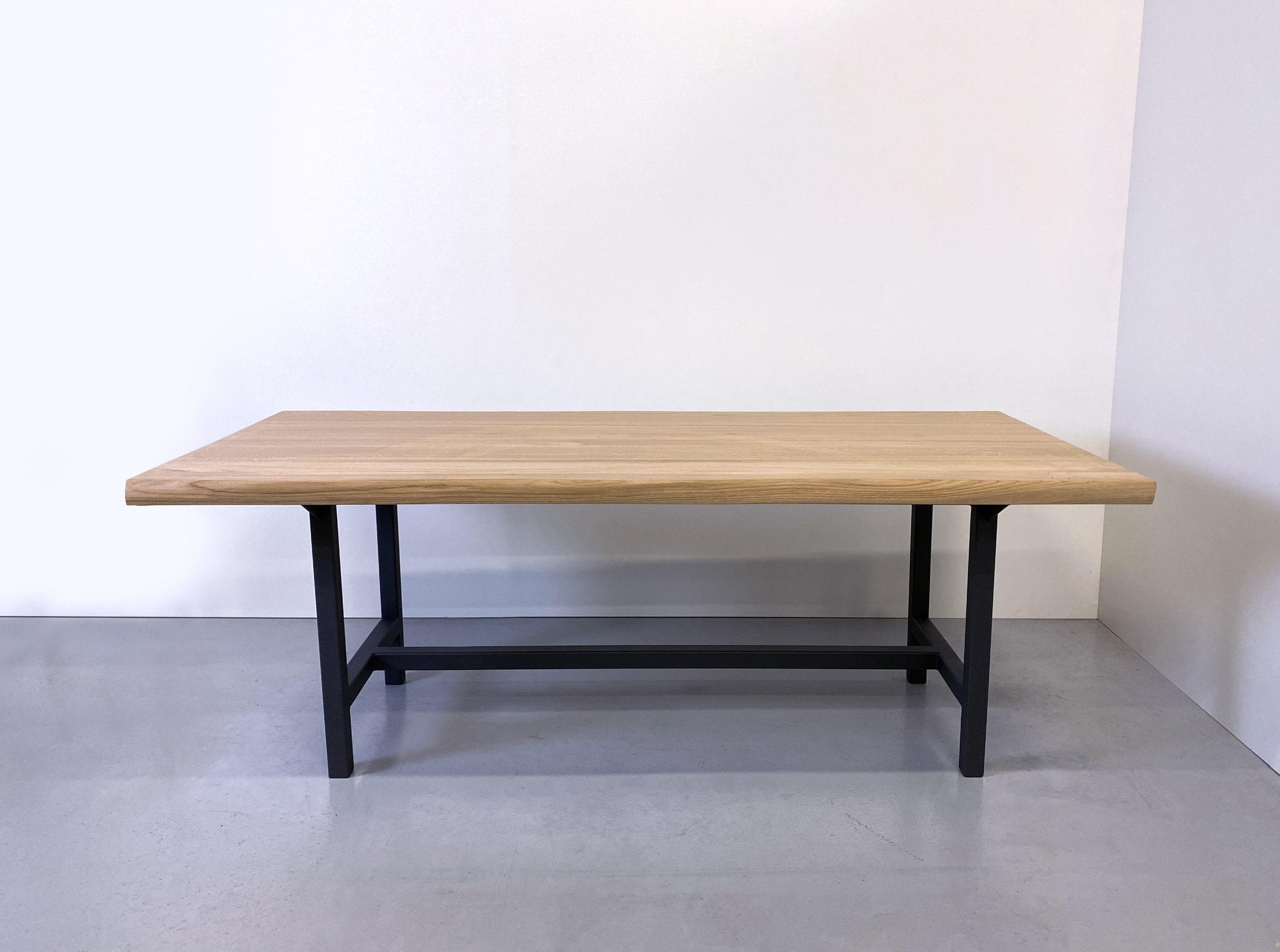 Table Campagne / bois massif et acier / fabrication sur mesure ARTMETA