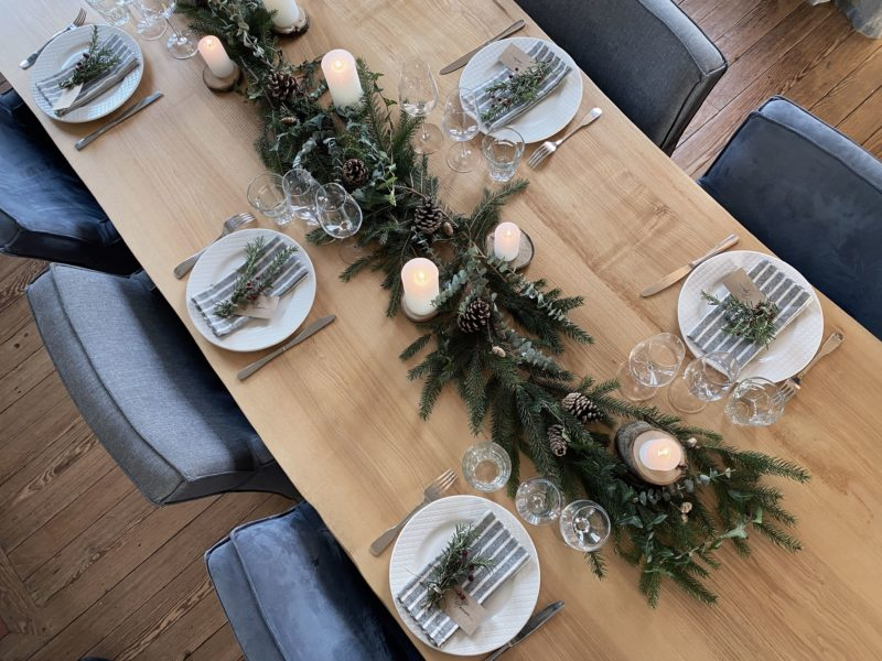 Table de Noël nature / DIY