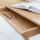 Bureau Compagnon / Chêne authentique massif / Fabrication sur mesure ARTMETA
