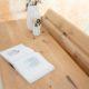Bureau Compagnon/ Chêne authentique et pied noir charbon / Fabrication sur mesure ARTMETA