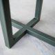Table à manger Equilibre / pied Kaki / Fabrication artisanale ARTMETA