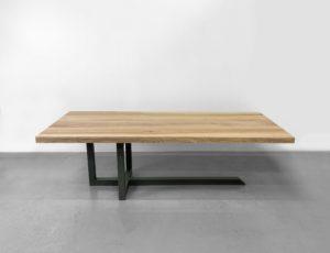 Table EQUILIBRE en acier et bois massif / Fabrication française et sur mesure ARTMETA
