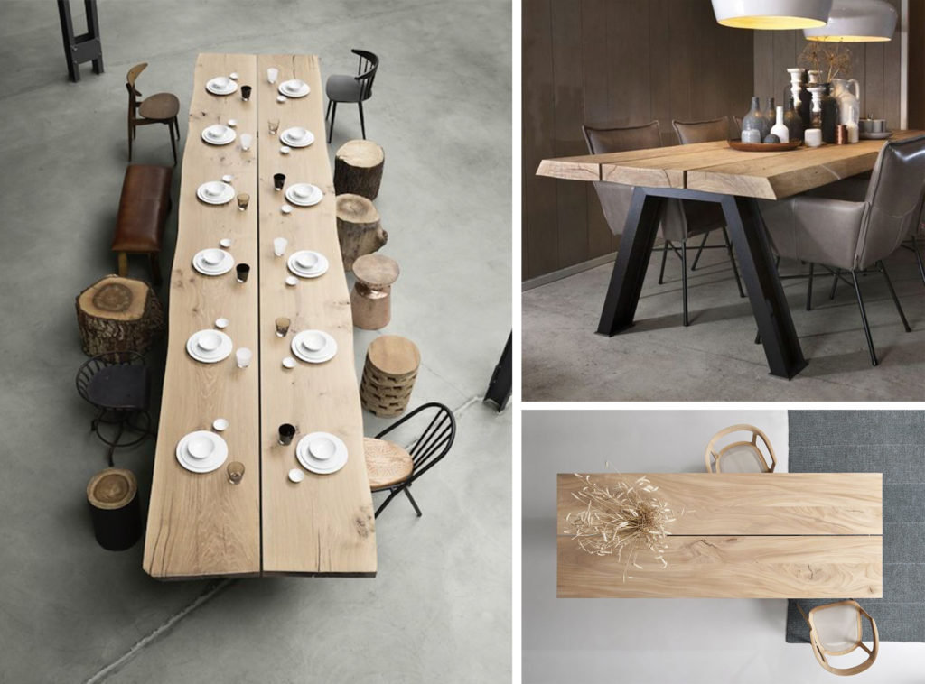 Plateau de table en 2 ou 3 parties